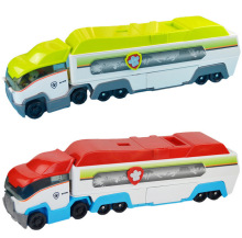 2 color Dog patrol jungle super bus parking lot with team leader Ryder Anime Action Figures Vehicle Model Patrulla Canina Gift