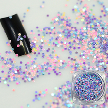 New Design 2g Colorul Round Shape Nail Glitter 3D Nail Art Decorations Thin Shining Paillette Tips DIY Tools BEY04