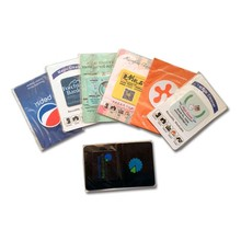 customized mobile sticker screen cleaner wipes with free shipping by Fedex shipping