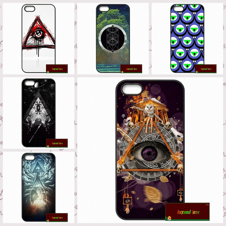 Triangle Eye of god Cover case for iphone 4 4s 5 5s 5c 6 6s plus samsung galaxy S3 S4 mini S5 S6 Note 2 3 4  DE0241