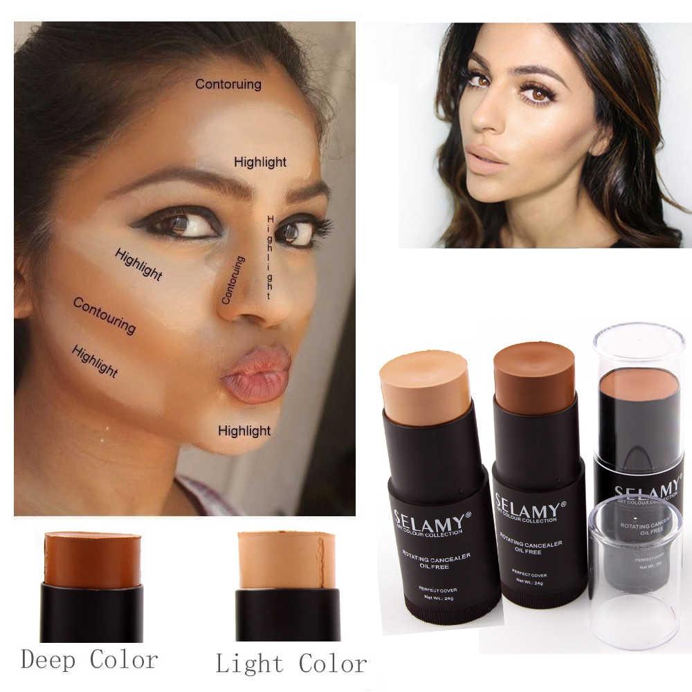 Selamy Brand Makeup Bronzer Face Concealer Stick for Light Dark Skin Long Lasting Contouring Base Concealer