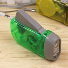 3leds Dynamo LED Lantern light Hand pressing powered charge Wind Crank Press Flashlight Torch for hunting Adjustable light(China)