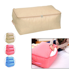 Popular Foldable Storage Bag Clothes Quilt Sweater Organizer Pouch Creamy-white/Blue