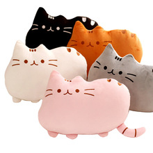 40*30cm Pusheen Cat Pillow With Zipper Only Skin Without PP Cotton Biscuits Kids Toys Big Cushion Cover Peluche Gifts