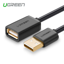 Ugreen USB Extension Cable Black Male Female 2.0 Adapter Extender Mobile Phone PC Keyboard Printer Camera Mouse - Fefe Electronics store