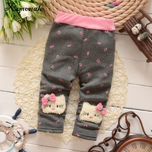 Xemonale 2018 New baby pants thick winter baby child trousers cartoon pants(China)