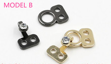 5SET sewing accessories metal buckle dark, invisible button to connect clasp Suitable for use in mink clothing, fur coats