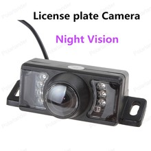 best selling IP68 Waterproof 7 IR Lights Night Vision Short License plate Frame Reverse Camera 120 degree angle