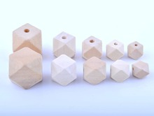 Free shipping! 10MM 12MM 14MM 16MM 20MM natural unfinished geometric wood spacer beads jewelry /DIY wooden necklace(China)