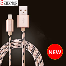 SZHXNOR 1M/2M/3M Long for iPhone Charger Cord Durable Braided 8 pin USB Cable charger for iPhone X 5 6 6s 7 8 plus ipad air IPOD(China)