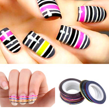 M-theory DIY Nail Art MUST HAVE Rolls Striping Decals Foil Tips Tape Line 3D Nail Art Stickers Nail Salon Tools Decorations