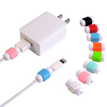 200pcs/lot USB Data Cable Earphone Protector Colorful Earphones Cover For Apple iPhone Samsung HTC Free shipping(China)