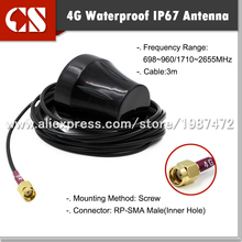 4G FDD Waterproof IP67 antenna  Router antenna RP SMA Male  3M