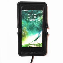 Big Black Rubber Qi Wireless Mobile Phone Car Charger Pad GPS Holder And Qi Charging Receiver Adapter for iPhone 5 6 6s 7 Plus