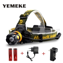 LED Headlamp 2*Q5 2000LM Headlight Flashlight 4 Model Torch Lights with Car Charger+18650 Battery US/EU charger head flashlight(China)