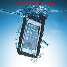 100% Sealed Universal Underwater Waterproof Bag Case  for iPhone 7 6 6s Plus 5s For Xiaomi Redmi 4X 3S 2 Pouch Mobile Phone Case