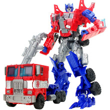 Hot Sale 18.5cm New Arrival Big Classic Transformation Plastic Robot Cars Toy Kids Education Toy Gifts Wholesale With Retail Box