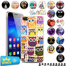 Hot!Original brand Various Patterns UV Printed Gel Soft TPU Case For Huawei honor 6 5.0 phone Cover Back Silicon Case with gift(China)