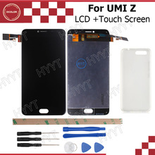 ocolor For UMI Z LCD Display and Touch Screen 1920x1080 Assembly Repair Part 5.5 inch For UMI Z/UMI Z PRO+Silicone Case+Tools