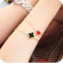 Wholesale Fashion classic LOVE Heart clover Bracelets Jewelry for Women free shipping(China)