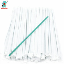 Fashion Green Straws 2Packs 200pcs Birthday Wedding Decoration Supplies Straws Family Party Disposable Drinking Straws(China)