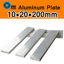 10*20*200mm Aluminum Alloy 6061 Plate AL Sheet DIY Material Model Parts Car Frame Metal for Vehicles Boat Industry Construction(China)