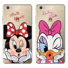 Silicon Case For Huawei P7 P8 P9 lite P9 Plus Mate 9 G7 G8 G9 lite Cartoon Minne Mouse Daisy Duck Cover For Huawei P8 P9 G9 Lite