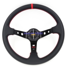 14 inch Universal PVC Carbon Fiber Look Steering Wheel 350mm OMP Steering Wheel Racing Car Steering Wheel