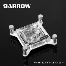 Barrow RBG X99 transparent acrylic CPU waterblock 0.4MM microcutting micro waterway for Intel 2011-V3 LTYK3X-04
