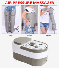Air Pressure Massaging Machine Whole Body Massager Release Edema Varicosity Myophagism Body With Free Arm and Leg Sleeve(China)