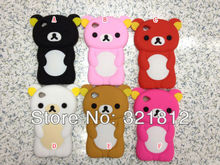 Bear Rilakkuma Style 3D Cute Lovely Soft silicone case  for Apple Ipod touch 6 6g 5 5th 5g cases cover skin 200pcs Free shipping