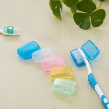 5pcs Portable Travel Toothbrush Head Toothbrush Case Protective Caps Health Germproof Toothbrushes Protector salle de bainWL11