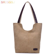 Free Shipping Fashion Lady Shoulder Bag Tote Canvas Women Hobo Bag Working Shopping Day Pack
