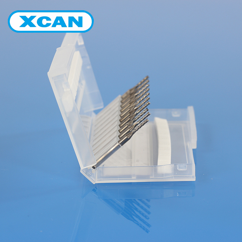 XCAN 10pcs 1.7mm Tungsten Steel V Shape Carbide PCB Engraving Bits  CNC Cutting Bits Millinging Cutters Kit for Engraving<br><br>Aliexpress