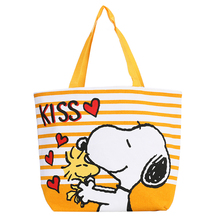 Kawaii Double-sided Printing Snoopie Cartoon Dogs Canvas Hand Bag Female Women Portable Storage bags 39*32*11CM Christmas gift
