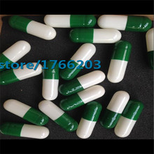 (1000pcs/pack) Size 0 Green/White Color Separated Gelatin Capsule, gel Capsule, Empty Capsule--- Cap and Body Separated
