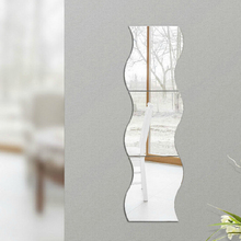 3D Removable Home Room Wall Mirror Sticker For House Decoration Art Vinyl Mural Decor Wall Sticker Decal 6pcs JK0106
