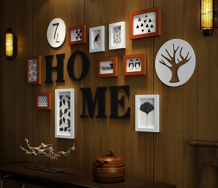 2018 European Style Photo Frame Home Design Wooden Picture Frame Set Wall Photo Frame Set Wall Decoration 10Pcs With Accessories1