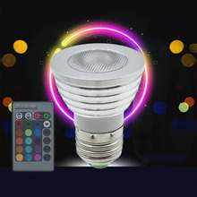 5W E27 Multi Color Change RGB LED Light Bulb Lamp with Remote Control Ultra Bright Environment-friendly No UV IR radiation.