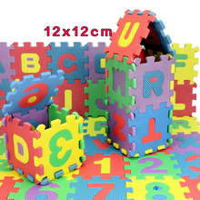 36pcs/Set English Alphabet Numerals Puzzles 12*12cm EVC Kids Rug Baby Puzzle Mat Soft Mat for Children(China)