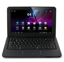 Free Shipping Boda 901 Notebook 10 Inch Dual Core VIA WM8880 Android 4.2 4GB Black with Russian Keyboard