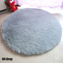 1Pc Soft Shaggy Area Round Rug Living Room Carpet Bedroom Carpet Round Floor Mat #236101