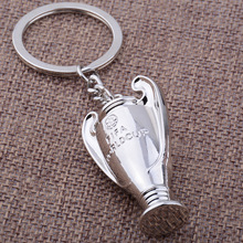 net weight 51g 3d Keychain football European Cup key chain Champions League keychain sports key ring fooball gift  drop shipping