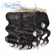New Star Lace Frontal 13x4 Brazilian Body Wave 100% Human Hair Free Part Natural Color Swiss Lace Bleached Knots With Baby Hair