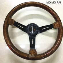 MOMO PAI car styling steering wheel / concave peach wood mahogany competitive racing retro ABS / Universal steering wheel(China)