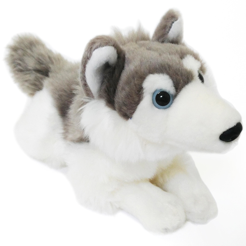 Plush Simulation Dog Stuffed Animal Husky Dog Doll Plush Simulative Dog for Collection As a Gift for Kids Boys Friends<br><br>Aliexpress