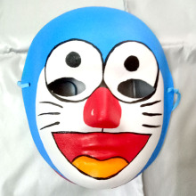 New Quality Handmade DIY Mask Halloween Cat Doraemon Mask Cosplay Costume Paper Mache Pulp Mask(China)