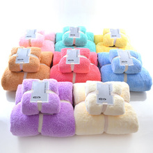 New Towel Set 70cm*140cm & 33cm*75cm microfiber Face bath towel Plush Magic towel adult towel bathroom Spa Swimming cloth