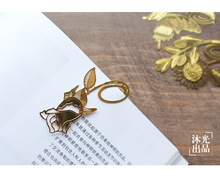 20pcs/lot Rose Flower Dragonfly Metal Bookmarks Metal Clip for Books Exquisite Stationery Gifts(China)