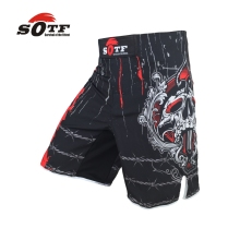 SOFT mma shorts fitness training Muay Thai boxing breathable black sports shorts Tiger Muay Thai kickboxing shorts Dark yokkao